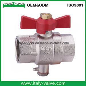 Europe Quality Plated Brass Butterfly Ball Valve (AV-BV-1050) pictures & photos