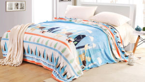 Super Soft Solid/Printed Flannel Blanket Sr-B170219-20 Solid/Printed Coral Fleece Blanket pictures & photos