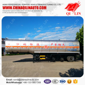 Factory Price Total Weight 40t Chemical Solvents Tank Semi Trailer pictures & photos