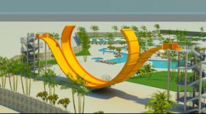 U-Style Skin Raft Water Slide pictures & photos