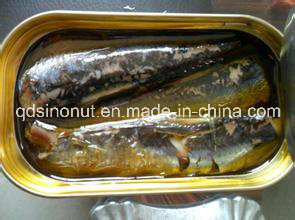 125g Oval Can Canned Sardine in Tomato Sauce with Chilli pictures & photos