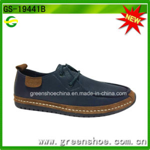 Factory Directly Fashion Men Genuine Leather Shoes PU Material pictures & photos