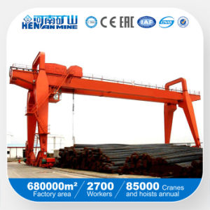 Chinese Made Double Beam Gantry Crane for Lifting Rolles Steel pictures & photos