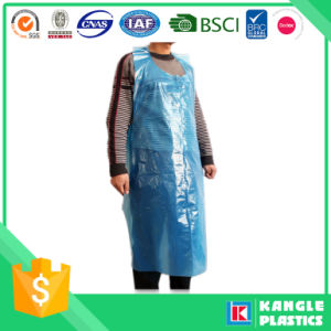 Plastic Blue Disposable Apron for Cooking pictures & photos