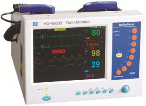 Med-De-9000b Guangzhou Monophasic Defibrillator Monitor pictures & photos
