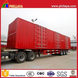 Cargo Transport Semi Truck Enclosed Strong Steel Box Trailer pictures & photos