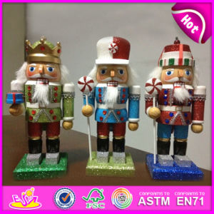 2015 Creative Wooden Nutcracker Craft, Lastest Designs Wooden Decoration Wood Craft, Christmas Nutcrackers Soliders Craft W02A076 pictures & photos