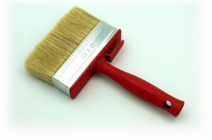 Natural Bristle, Plastic Handle, Dark Red Brush pictures & photos