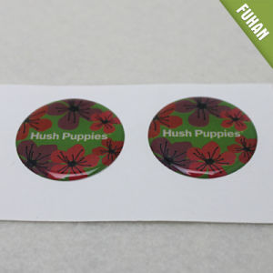 High Quality Custom Die Cut Flower Resin Crystal Sticker pictures & photos