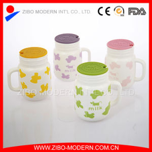 Hot Best Sale Custom Bone China Milk Mug Cup with Lid pictures & photos