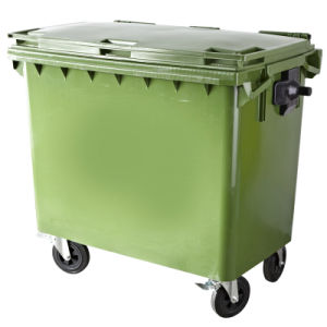 Four Wheels Outdoor Plastic Trash Can (FS-81100) pictures & photos
