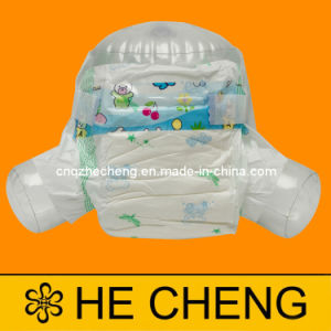 Lovely PP Tape Disposable Diapers Baby (F-Footprint) pictures & photos