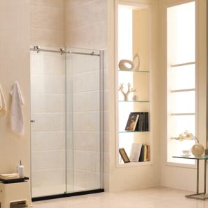 Australian Standard Tempered Glass Shower Screen with Sliding Door (R2) pictures & photos