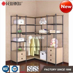 Patent Multi-Functional DIY Bedroom Clothes Wardrobe Storage Cabinet Furniture, Made of Steel Shelf & Wooden Cabinets pictures & photos