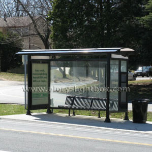 Mupi Double Sided Static Bus Stop Shelter pictures & photos