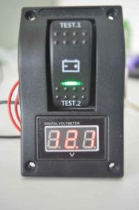 5-30V Digital Battery Voltmeter Test Panel Rocker Switch Dpdt on-off-on for Boat pictures & photos