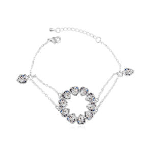 High Quality Best Selling Lady Jewelry Stainless Chain Crystal Bracelet for Lady