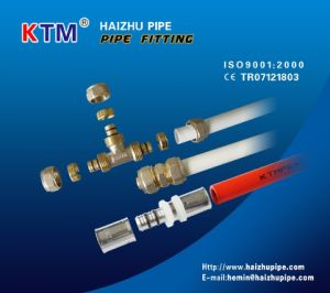 Female Elbow with Wall-Plate (Press Fitting) for Aluminium Plastic Pipe pictures & photos