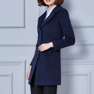 Ladies Wool Winter Wind Coat Wholesale pictures & photos
