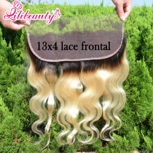 Ombre Body Wave Brazilian Hair 13*4 Lace Frontal in 1b/613 pictures & photos