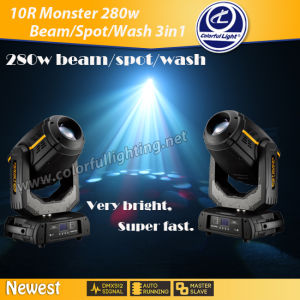 Super Brightness Unlimited Color 280W Beam Spot Wash Moving Head