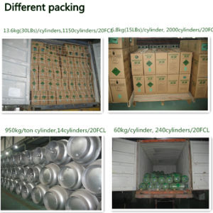 Ton Cylinder Packed Refrigerant Gas R22 with High Purity pictures & photos