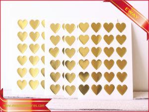 Vinyl Gold Sticker Garment Fashion Sticker Label pictures & photos