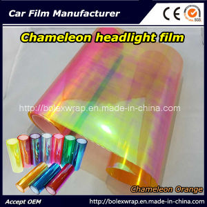 Chameleon Orange Car Light Vinyl Sticker Chameleon Car Headlight Tint Vinyl Films Car Lamp Film pictures & photos