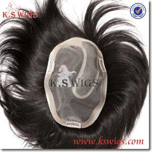 Men Toupee 100% Human Hair pictures & photos