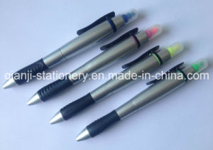 Highlighter with Ballpen Plastic Highlighter for Promotion (H202) pictures & photos