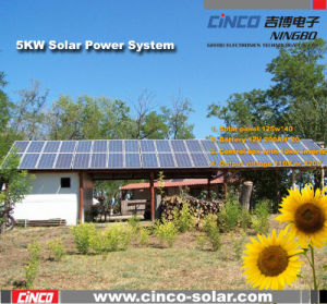 5000W Off-Grid Solar Power System, Stand-alone PV Solar Kit for home Used