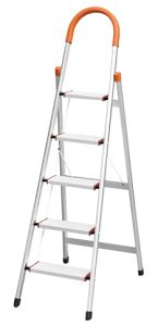 Top Quality Orange 5 Steps Aluminum Household Ladder pictures & photos