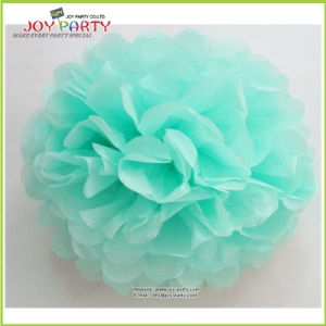 Hot Sale Tiffany Mint Green Paper POM Poms