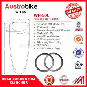 50mm Carbon Clincher Wheelset Carbon Clincher Road Rim pictures & photos