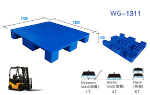 Wholesale Reuseable Used Flat Face Plastic Pallet for Factory pictures & photos