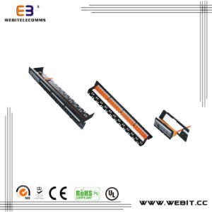 CAT6A UTP Patch Panel with Shutter, 24ports, Toolless pictures & photos