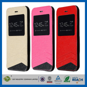 C&T Fashion Luxury Flip Leather Case for iPhone 6, for iPhone 6 Leather Case pictures & photos