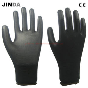 PU Coated Nylon Shell Work Gloves (PU005) pictures & photos