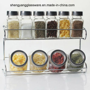 Hot Sell 10 PCS Glass Bottle Spice Jar with Metal Lid Kitchenware pictures & photos