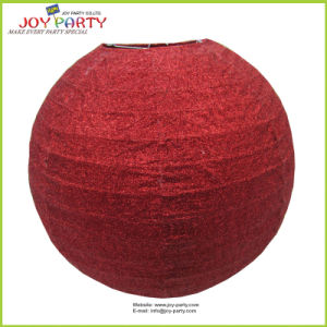 Red Glittering Decorative Paper Lanterns pictures & photos
