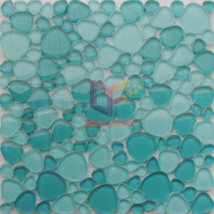 Green Color Cobble Shape Art Glass Pool Mosaic (CFC585) pictures & photos