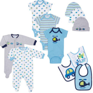 Gerber Baby Boy 11-Piece Essential Layette Set Newborn Fashion Pajamas