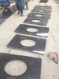 High Quality Polished Mongolian Absolute Black Granite pictures & photos