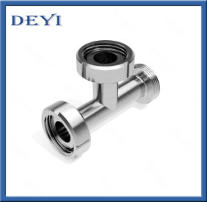 Pipe Fittings Sanitary Stainless Steel Equal Tee with Union Ends pictures & photos