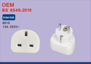 BS8546 Universal EU to UK Travel Power Plug Adapter Converter with USB pictures & photos