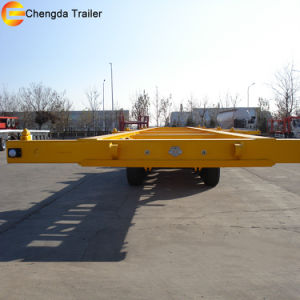 Double Axle 40ft Skeleton Semi Trailer Export to Philippines pictures & photos