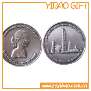 Custom Zinc Alloy Coin/Souvenir Coins with Wheel Border and Epoxy (YB-SM-89) pictures & photos