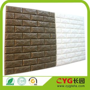 3D Self Adhesive PE Foam Wall Tile XPE Foam Wallpaper pictures & photos