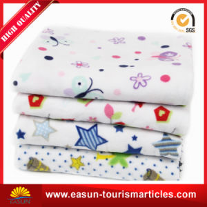 Polyester Custom Cheap Baby Polar Flannel Fleece Blanket with Logo pictures & photos