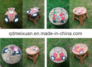 Solid Wood Stool Handmade Taboret Children Stool in Shoes (M-X3816) pictures & photos